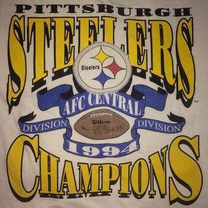 21b1a0f79eba10 Vintage Shirts - Vintage Pittsburgh Steelers 1994 t-shirt champion